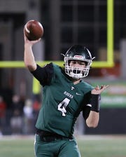 Trinity's Nick Bohn throws a pass against St. Xavier on Sept. 29. The teams will meet again Sunday in the Class 6A state championship game in Lexington.