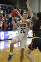 Ontario's Kolten Kurtz scored a game-high 24 points in a 61-50 win over Kenton on Saturday as the Warriors improved to 5-2 on the season.