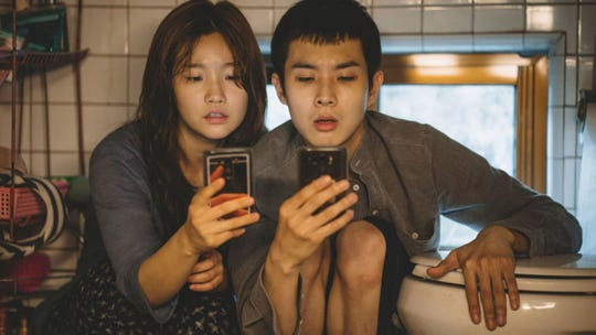 """""""Did we win? Did we win?"""" Could these characters from """"Parasite"""" be checking their phones for SEFCA voting updates?"""