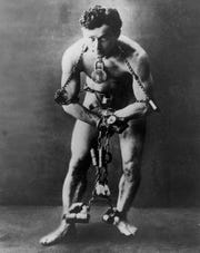 """The master of escape and illusion with roots in Wisconsin is the focus of """"Inescapable: The Life and Legacy of Harry Houdini."""" The exhibit runs through Sunday at Jewish Museum Milwaukee."""