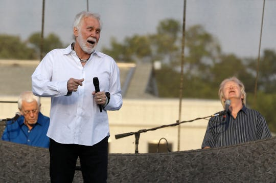 Country music legend Kenny Rogers performs on the last night of the Wisconsin State Fair in 2015.
