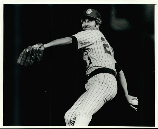 Pitcher Don Sutton makes his debut for the Brewers in 1982 after a blockbuster trade.