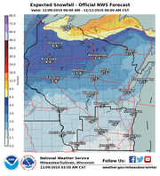 Snow is forecast Monday for much of the state.