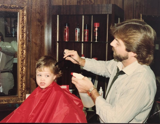 Barber Pete Sorenson gives Ryan O'Connell his first hair cut in 1982. Sorenson has continued to cut O'Connell's hair into adulthood. Sorenson, who has cut hair for 45 years, is retiring Dec. 27.