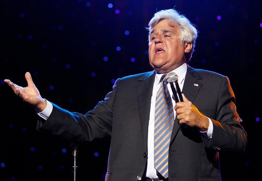 Jay Leno performs at the first of two sold-out shows at the Northern Lights Theater at Potawatomi Bingo Casino on Aug. 22, 2013.