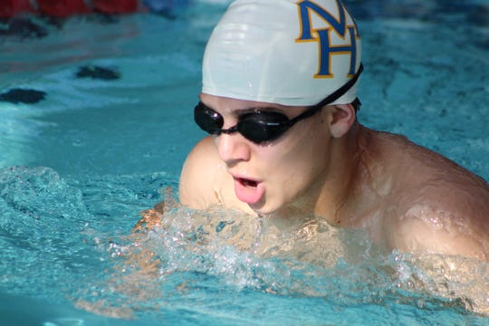 Mountain Home's Daniel Hall competes in the breaststroke on Saturday.