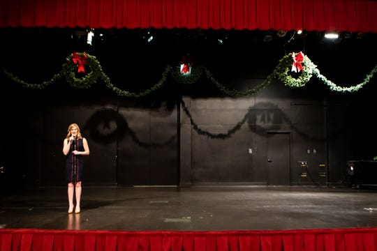 2019 Miss LouisianaMeagan Crews rehearses her routine for the upcoming Miss America Pageant at the University of Louisiana at Monroe in Monroe, La. on Dec. 9.