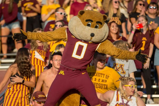 Minnesota Golden Gophers mascot Goldy.