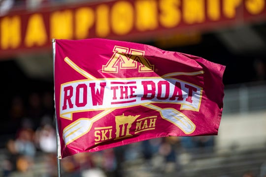 Minnesota's Row The Boat flag .