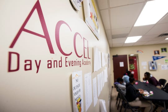 at Accel Day and Evening Academy in Mobile, Ala., on Wednesday, Dec. 4, 2019.