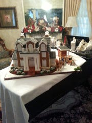 Jo West's first gingerbread house made for MTSU from 2013.