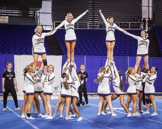 Arlington High at the 2019 TSSAA Cheerleading Championships held Saturday, Dec. 7 at Middle Tennessee State University in Murfreesboro.