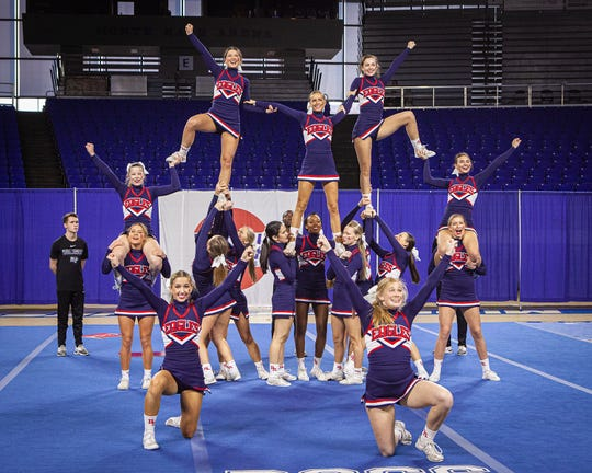 Brentwood High at the 2019 TSSAA Cheerleading Championships held Saturday, Dec. 7 at Middle Tennessee State University in Murfreesboro.