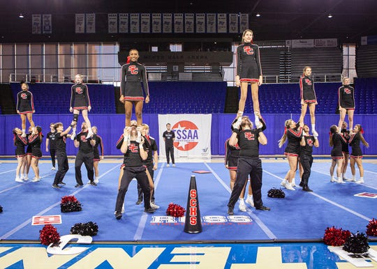 Stewarts Creek High at the 2019 TSSAA Cheerleading Championships, held Saturday, Dec. 7 at Middle Tennessee State University.