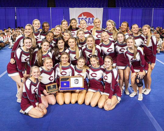 Collierville High took home a state title at the 2019 TSSAA Cheerleading Championships held Saturday, Dec. 7 at Middle Tennessee State University in Murfreesboro.
