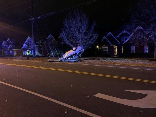 A fatal car crash on Warrior Drive killed a Murfreesboro man Saturday, Dec. 7, 2019.