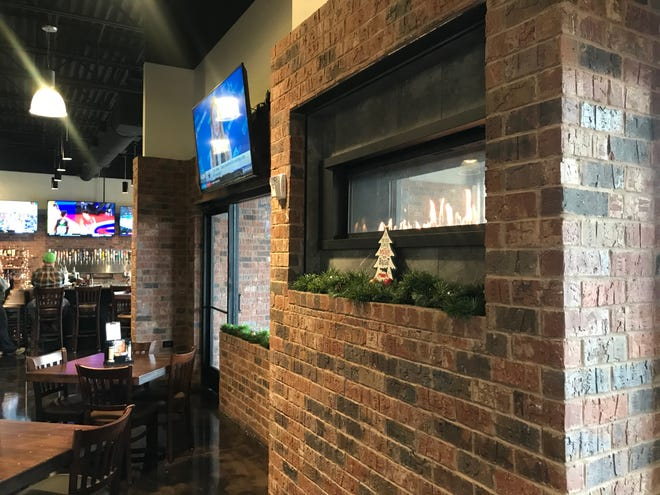 Two J's Grille, 3242 Memorial Blvd. in Murfreesboro, has a gas fireplace inside the enclosed patio.