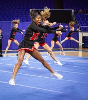 Ravenwood High at the 2019 TSSAA Cheerleading Championships, held Saturday, Dec. 7 at Middle Tennessee State University in Murfreesboro.
