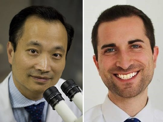 Dr. Ming Wang (left), M.D., PhD., and Dr. Joshua Frenkel, M.D., MPH, Wang Vision Institute.