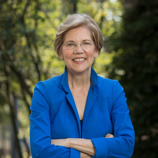 Official portrait of democratic presidential candidate Sen. Elizabeth Warren.