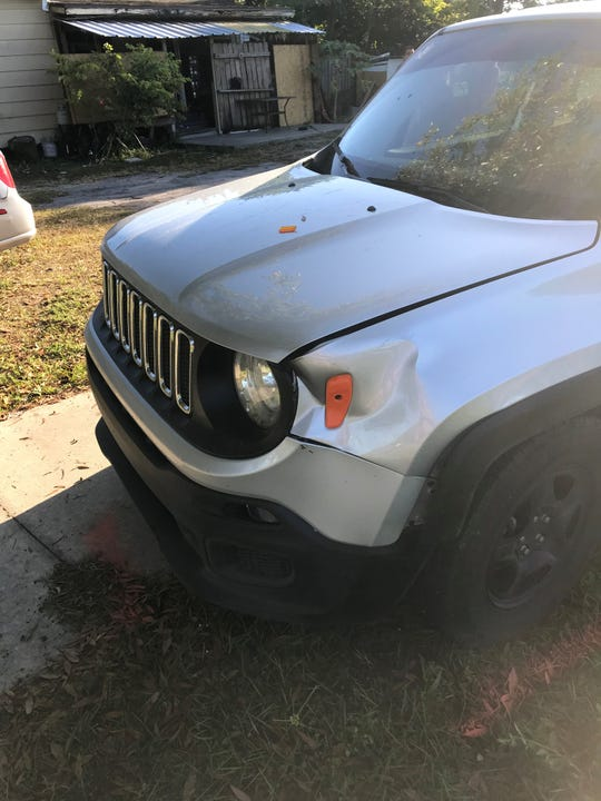 This vehicle struck and seriously injured a 7-year-old boy near his school bus story in Immokalee on Monday, Dec. 9, 2019.