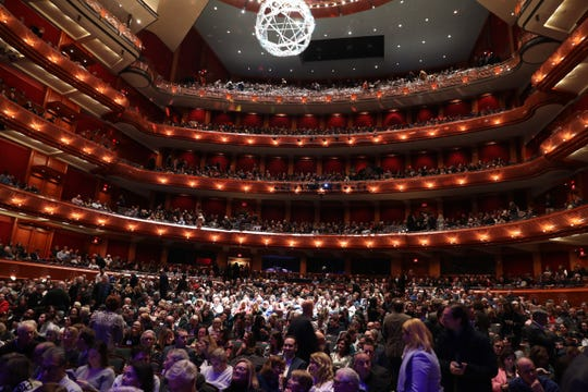 About 2,700 packed the New Jersey Performing Arts Center for Montclair Film Presents: An Evening With Stephen Colbert + Julia Louis-Dreyfus. Dec. 7, 2019.