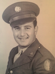 Carlo in Army uniform before being deployed overseas in March 1944.