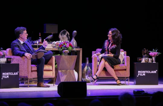 """""""An Evening With Stephen Colbert + Julia Louis-Dreyfus"""" at NJPAC featured the two celebrities in a conversation which raised funds for Montclair Film. Dec. 7, 2019."""