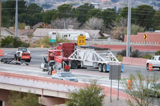 Construction on US 70 slows traffic during rush hour in Las Cruces on Wednesday, Dec. 4, 2019.