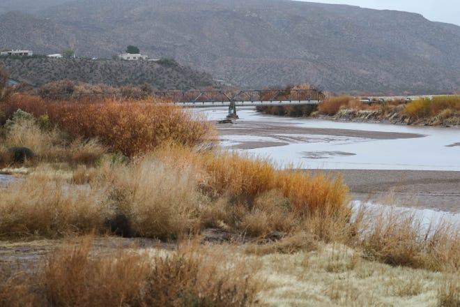 Rain fills the Rio Grande in Doña Ana County on Monday, Dec. 9, 2019.