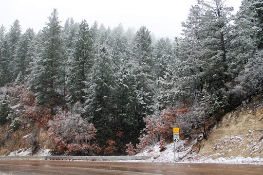 Snow fell on the Lincoln National Forest Dec. 9.