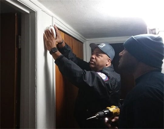 Pensacola Fire Department installs 66 smoke alarms during Woodland Heights Neighborhood Canvas.