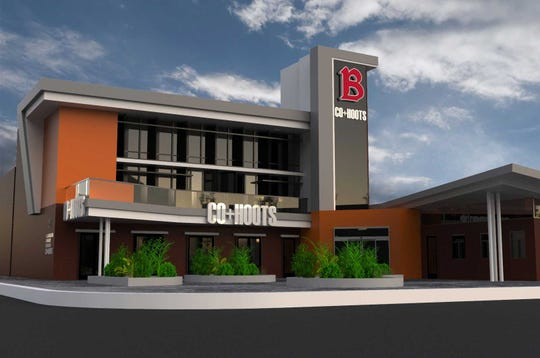 A design rendering of Co+Hoots Mesa at Benedictine University in downtown.