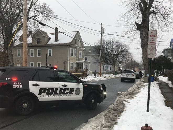 City of Poughkeepsie police respond to a shooting on Morgan Avenue as seen on Monday, Dec. 9, 2019.