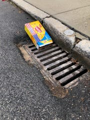 Litter and leaves collect in storm drains, causing issues with flooding and pollution in the streams throughout York County.