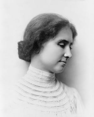 Young Helen Keller in 1904, nine years before she appeared in Richmond.