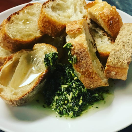 Bread and pesto