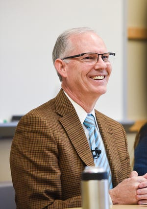 Superintendent Brian Maher announces his resignation on Monday, Dec. 9, 2019 at the Sioux Falls School District Office.