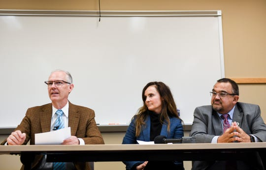 Superintendent Brian Maher announces his resignation in a meeting with Cynthia Mickelson and Todd Thoelke on Monday, Dec. 9, 2019 at the Sioux Falls School District Office.