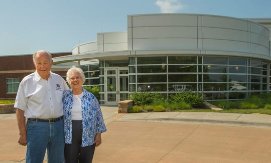 Bill and Virginia Darr at the Darr Agricultual Center June 15, 2015.