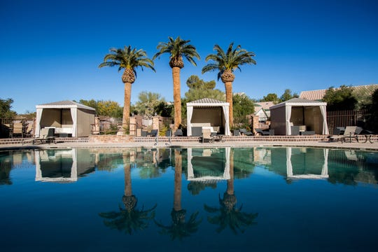 Pristine pool and cabanas await at Eureka Casino Resort.