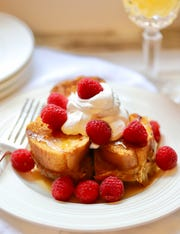 Oven-Baked Caramel Soaked French Toast Casserole