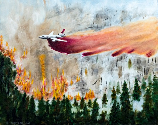 Art Visalia will host the work of artist William L. Wheeler beginning Friday. Wheeler is a strong supporter of first responders but paints other scenes as well.