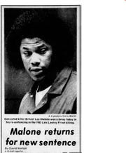 A photo from the May 14, 1985 edition of the Tulare Advance-Register shows Ernest Malone. Malone was denied parole Wednesday for the 1982 robbery and murder of a Tulare man.