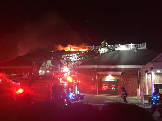 Crews were called out to a fire at the WSFS on Lancaster Pike in Hockessin Sunday night.