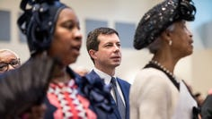 Pete Buttigieg at a Sunday service on Oct. 27, 2019 in Rock Hill, South Carolina.