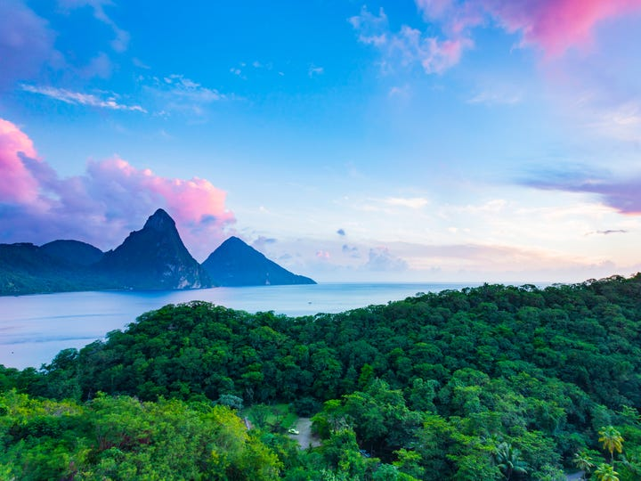 Best honeymoon destination No. 1: St. Lucia