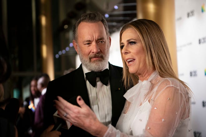 Tom Hanks and Rita Wilson attend the Kennedy Center Honors in Washington DC.