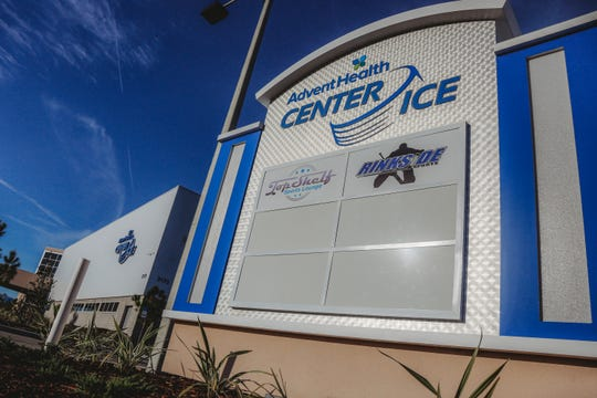 The AdventHealth Center Ice in Wesley Chapel, Florida, where John Zimmerman, Silvia Fontana and Vinny Dispenza coach figure skating.
