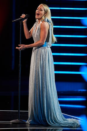 Carrie Underwood performs a pair of Linda Ronstadt songs at the Kennedy Center Honors Sunday.